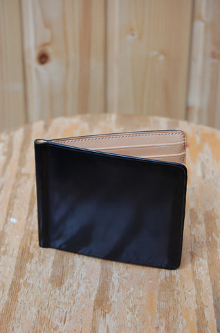 Il Bussetto Bi-fold Wallet with Money Clip black