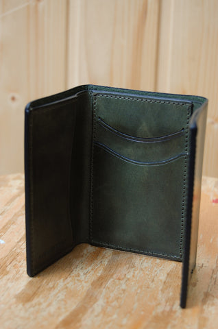 Il Bussetto Tri-fold Wallet forest green