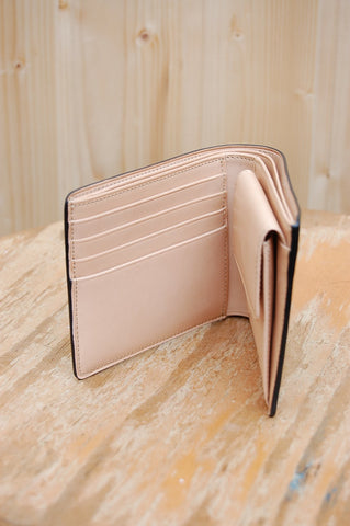 Il Bussetto Bi-fold Wallet with Coin Pocket pesto