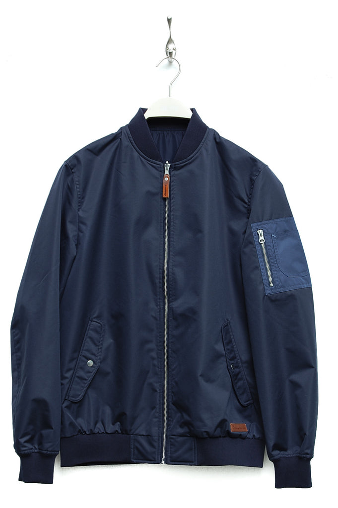 Knowledge Cotton Apparel Bomber Jacket total eclipse