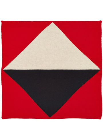 Jo Gordon Geometric Square Neckerchief scarlet