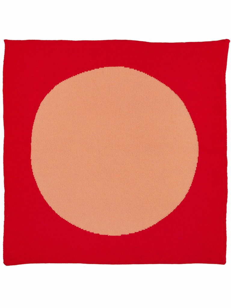 Jo Gordon Circle Square Neckerchief scarlet & medusa