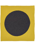Jo Gordon Circle Square Neckerchief turmeric & charcoal