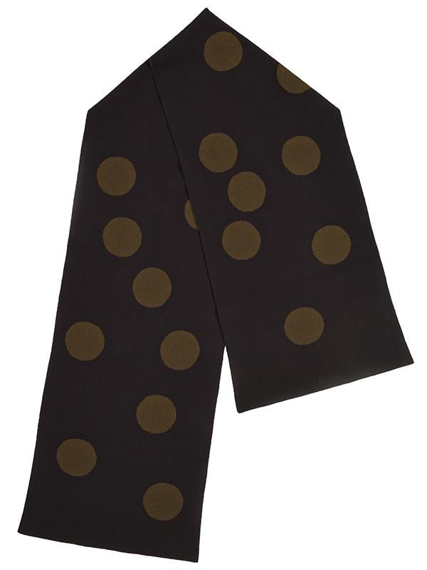 Jo Gordon Spot Scarf black & military