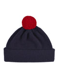 Jo Gordon plain hat contrast pompom nero navy
