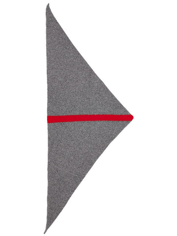 Jo Gordon Stripe Triangle Neckerchief derby & scarlet