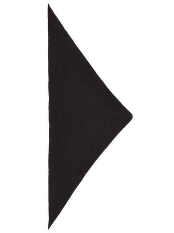 Jo Gordon Plain Triangle Neckerchief black