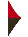 Jo Gordon Half Half Triangle Neckerchief scarlet & military