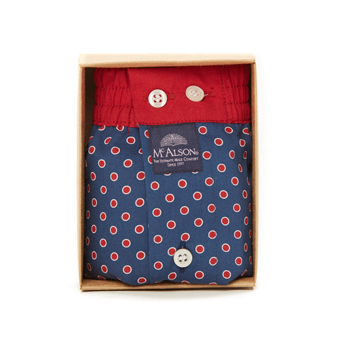 Mc Alson Boxer M3838 blue/red dots