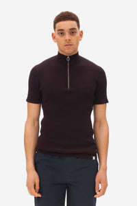 Nowadays Zip Polo NZ1202D2 dark bordeaux