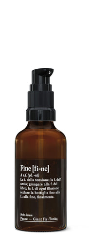 Fine organic body serum Peace