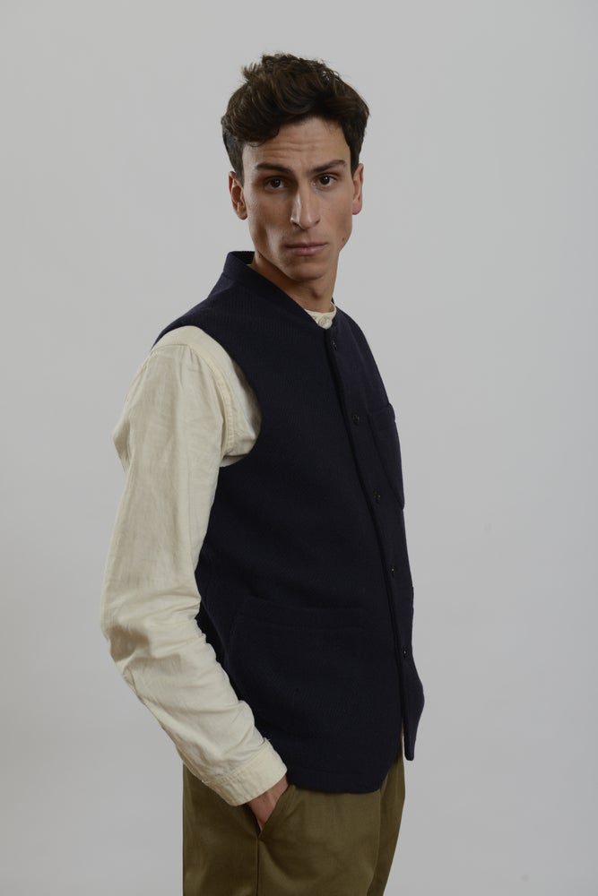 Classic Gilet wool navy