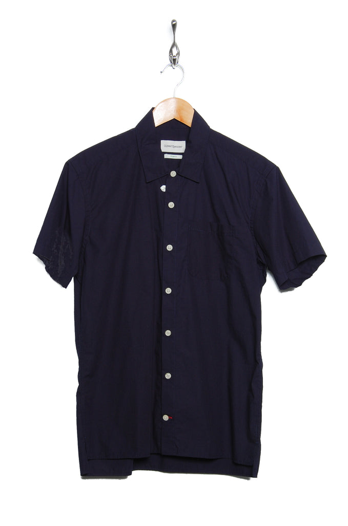 Oliver Spencer Hawaiian Shirt Abbot navy