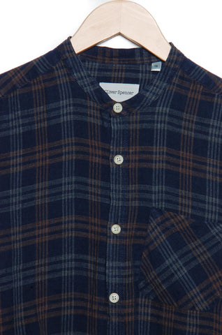 Oliver Spencer Granddad Shirt Fairhurst indigo