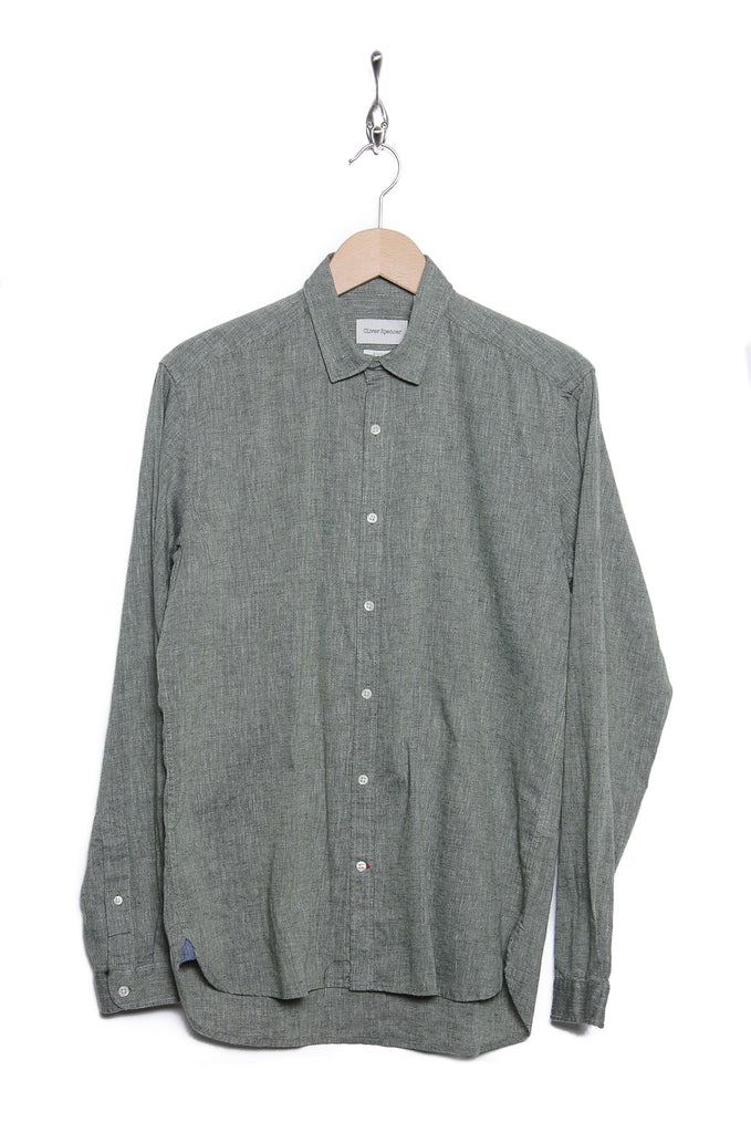 Oliver Spencer Clerkenwell Tab Shirt Talcot green