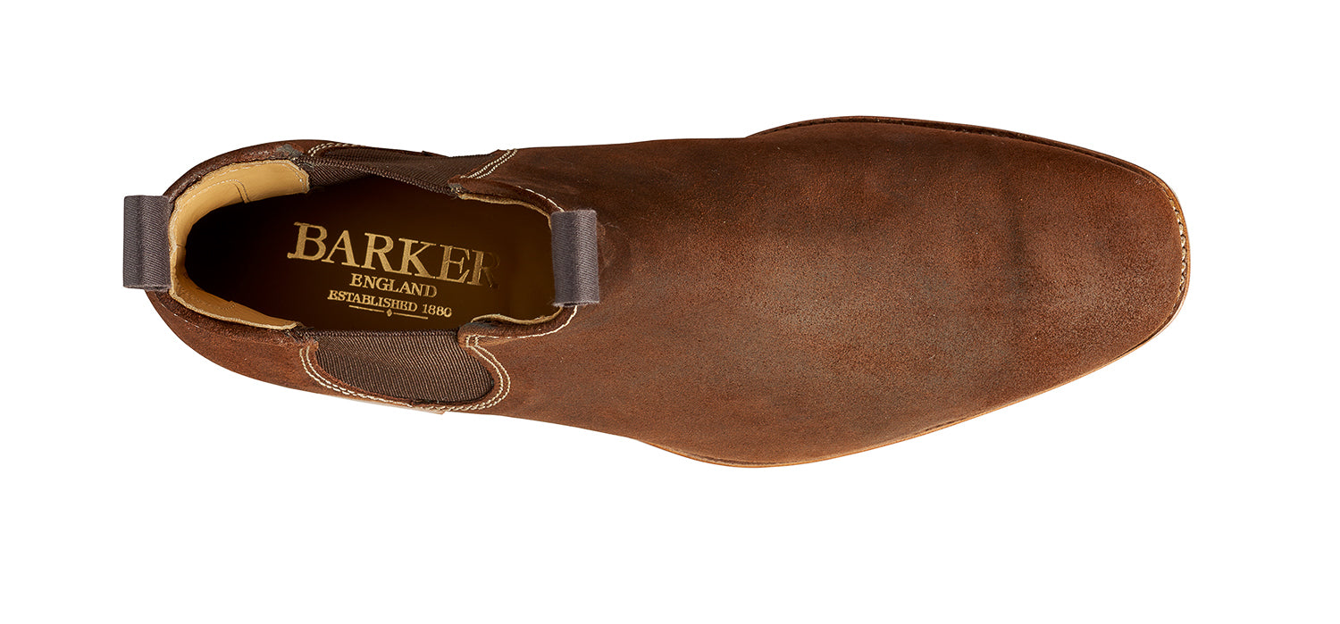 Barker Mansfield mid brown waxy suede