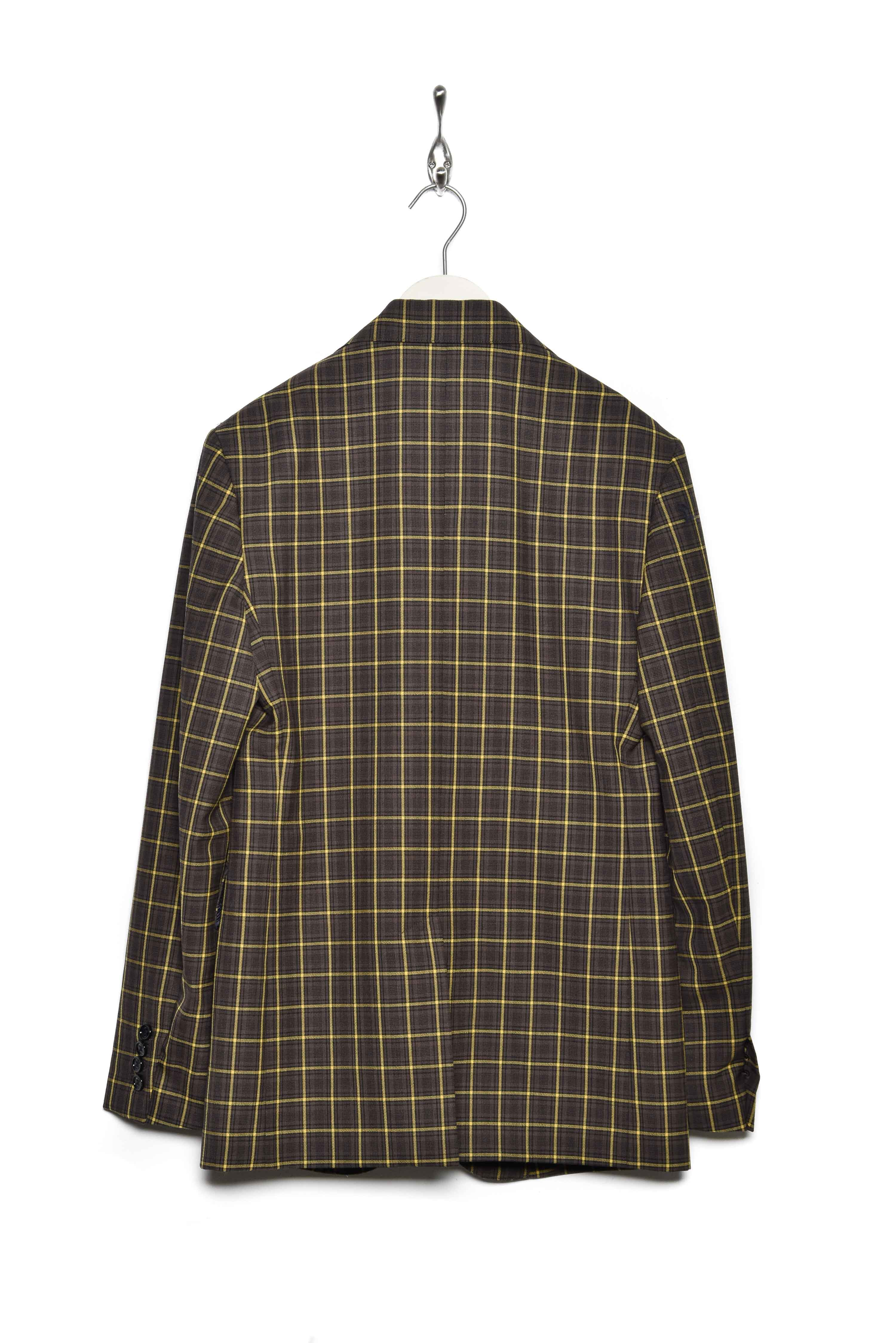 Band of Outsiders 1 Button Jacket heritage check 3001 brown
