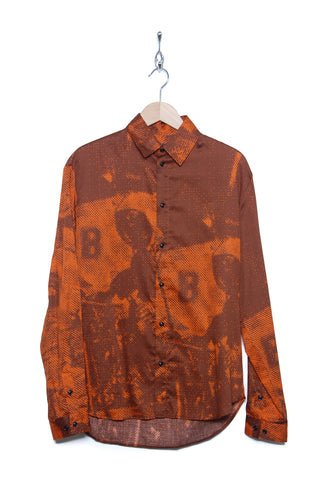 Band of Outsiders Moon Scene Print Shirt SH02 CS139 spicy orange