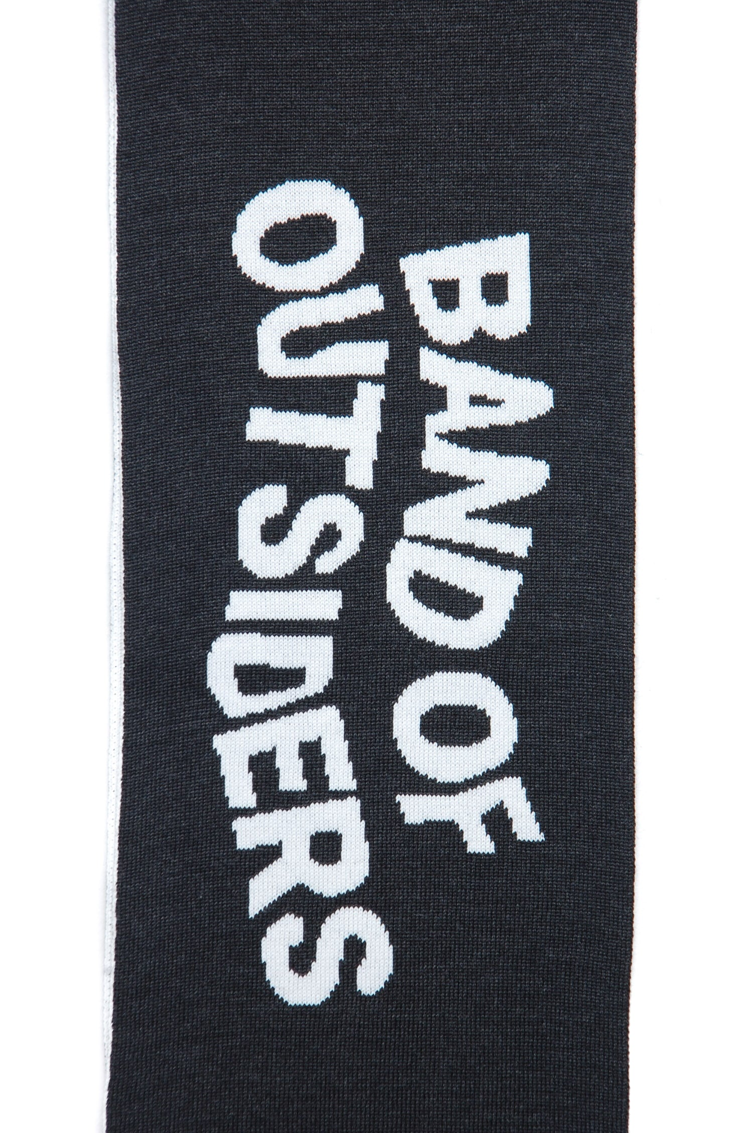 Band of Outsiders Band Scarf W/Stripe Detail KW14 CK110 8001 charcoal
