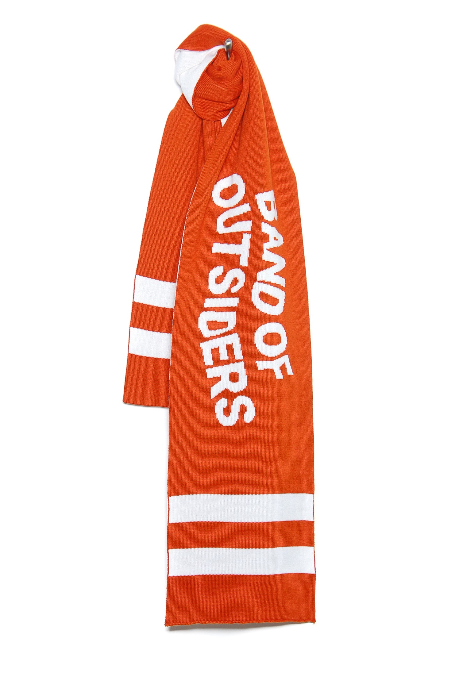 Band of Outsiders Band Scarf W/Stripe Detail KW14 CK110 5302 spicy orange