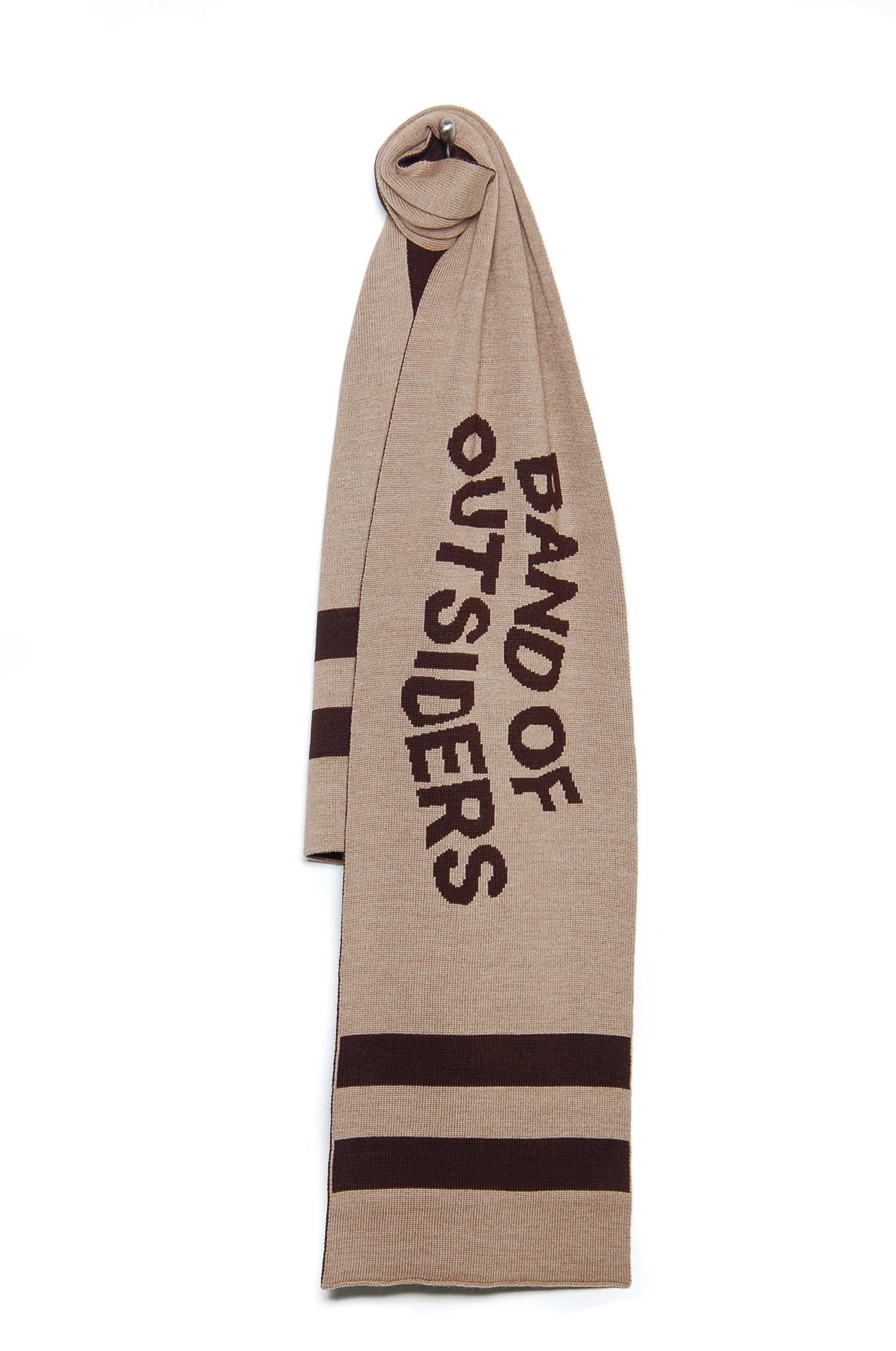Band of Outsiders Band Scarf W/Stripe Detail KW14 CK110 7001 camel