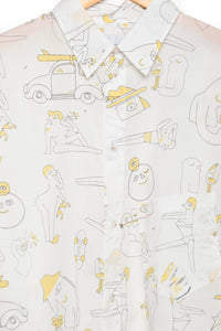 Band Of Outsiders Outline Riso ice grey/lemon yellow