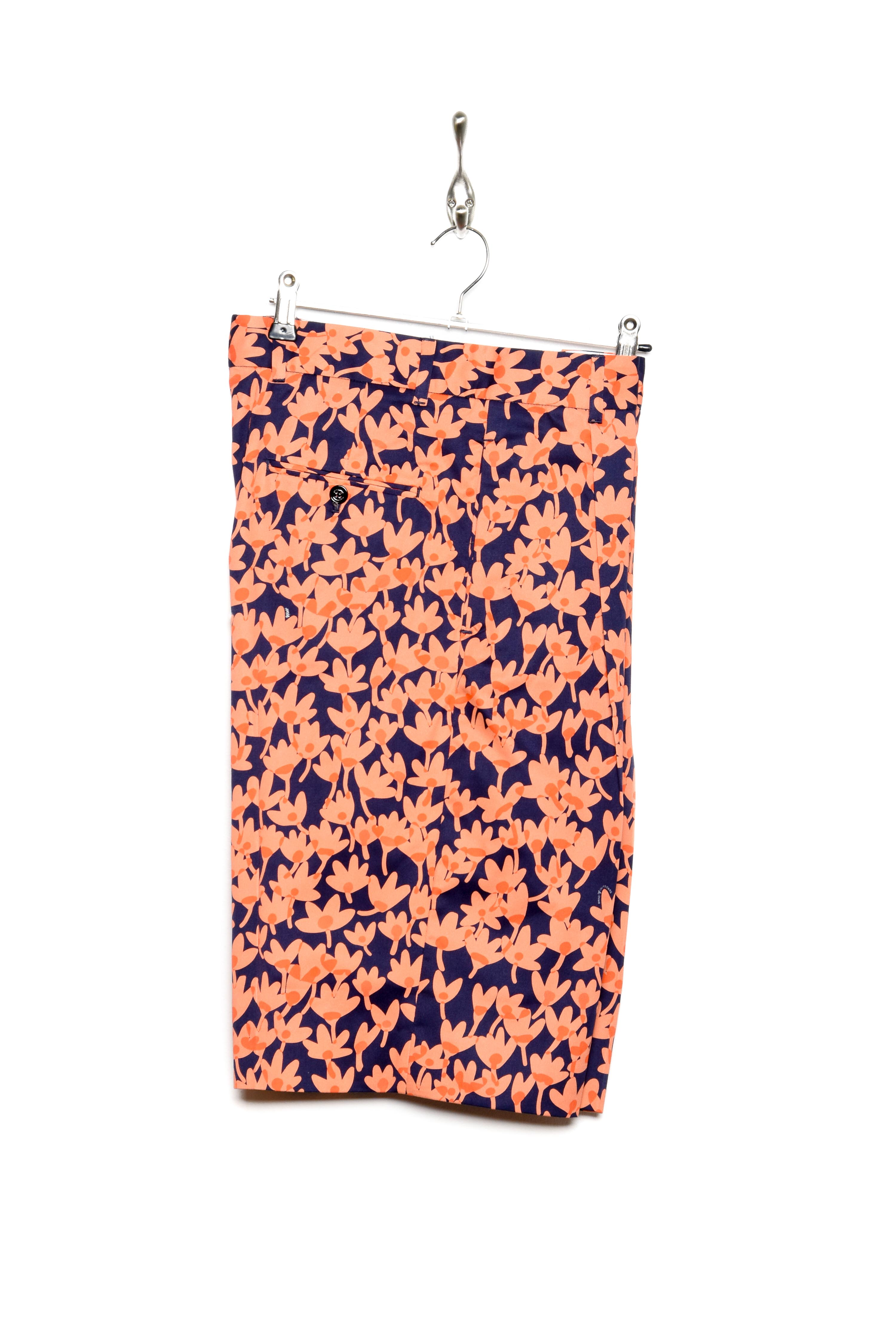 Band Of Outsiders Riso Flower Shorts coral/navy