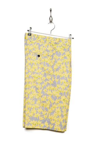 Band Of Outsiders Riso Flower Shorts lemon yellow/ice grey