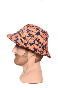 Band Of Outsiders Bucket Hat coral/navy