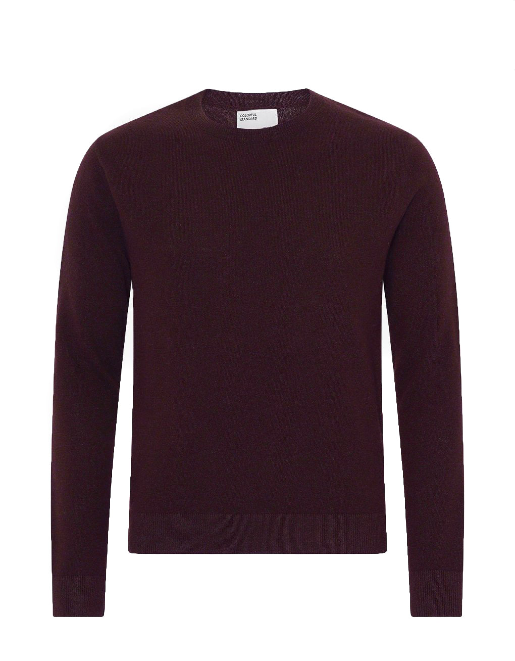 Colorful Standard Light Merino Wool Crew oxblood red