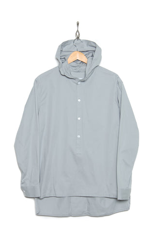 Coltesse Shirt-Hoo-Lg hooded shirt light gray
