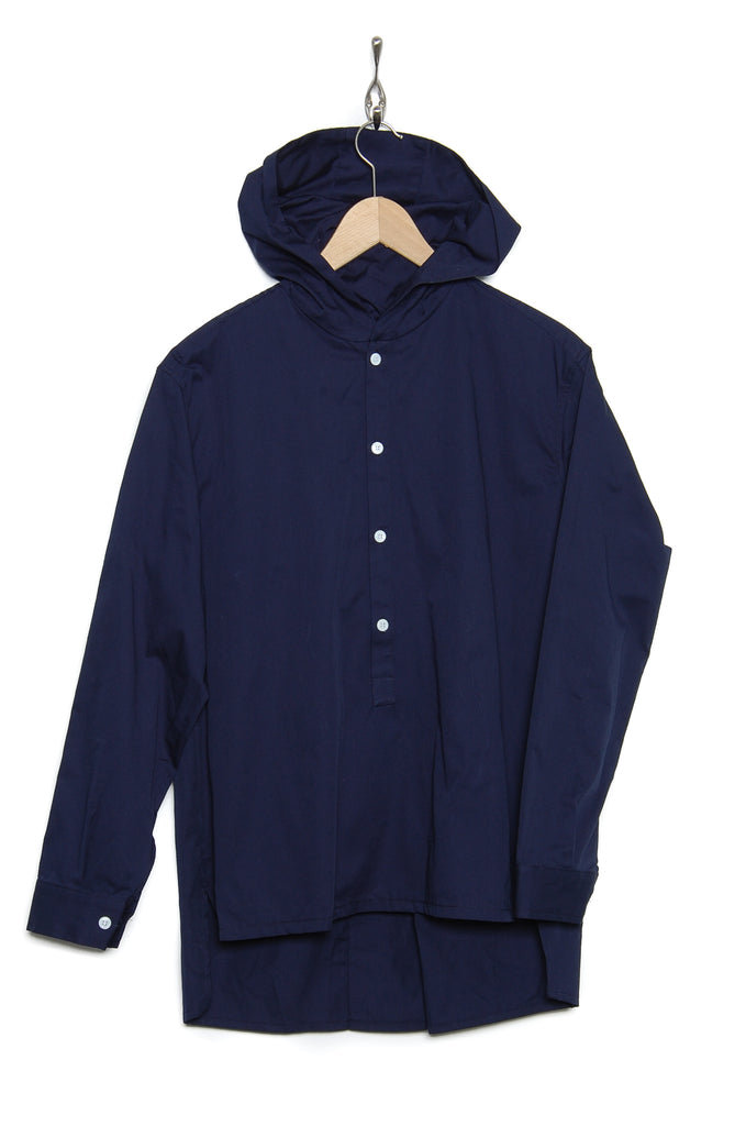 Coltesse Shirt-Hoo-Lg hooded shirt dark navy