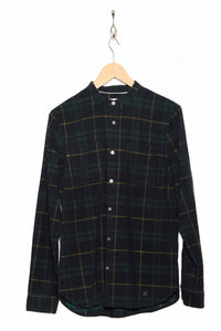 corduroy check granddad shirt NAA0119D2 green gables 746