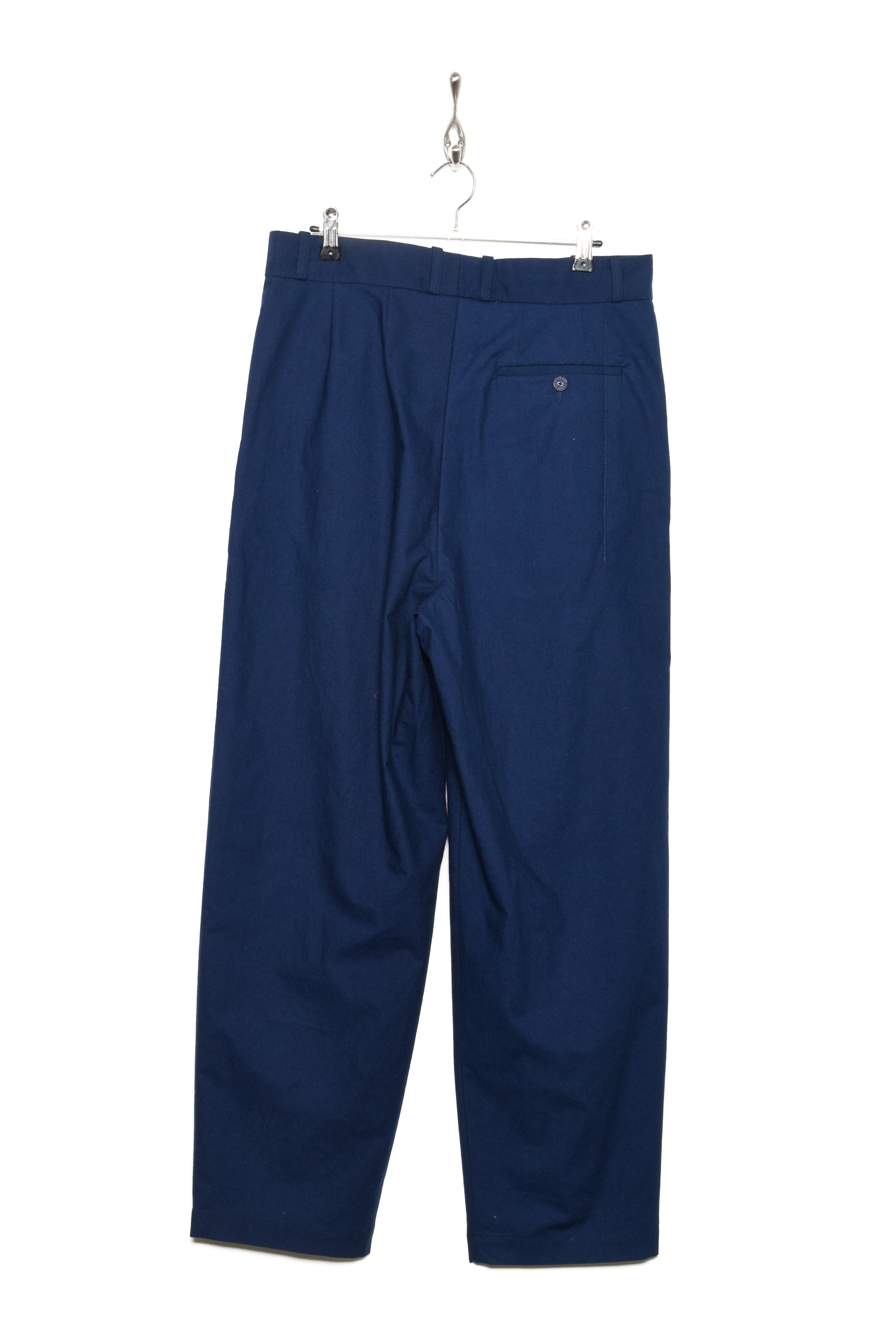 Frank Leder Double Pleated Trouser baltic blue dyed