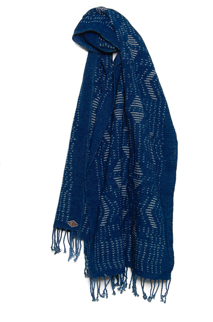 Indigo People Eden Scarf Ikat fish