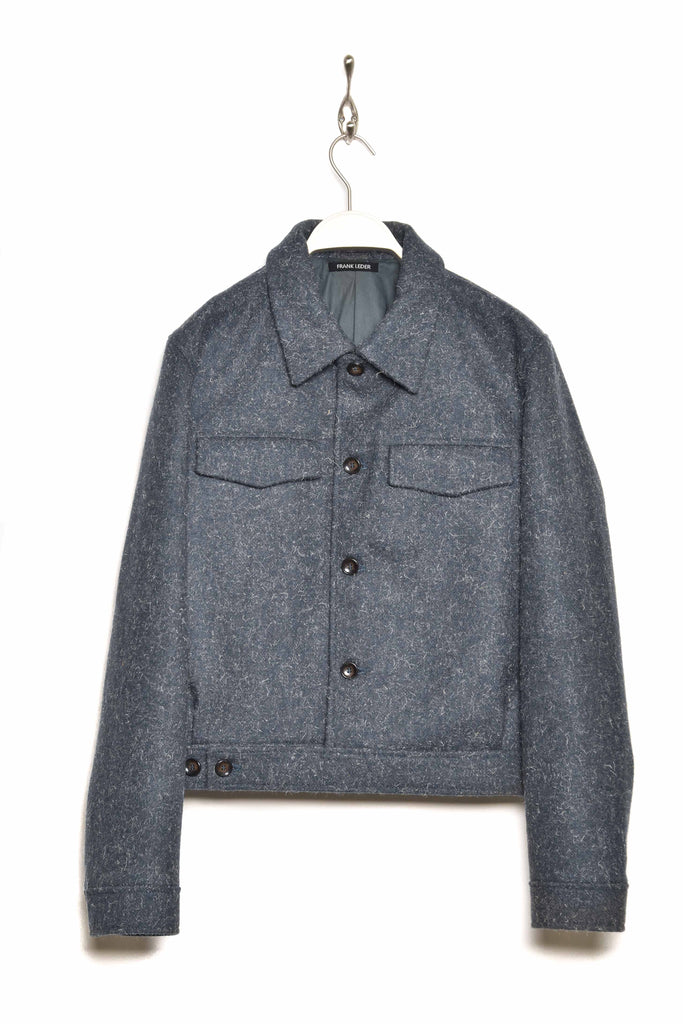 "Frank Leder ""Dog"" Wool Jacket M003/02 blue35"