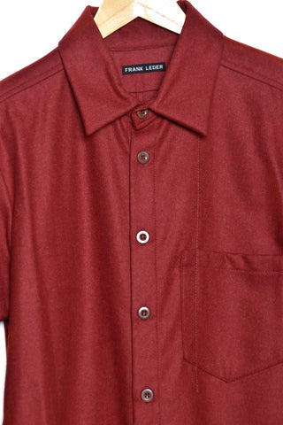 Frank Leder Wool Loden Shirt M001/04 red75
