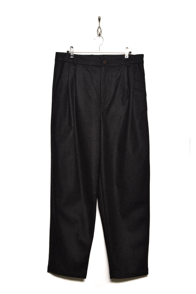 Frank Leder Wool Pleated Trouser SP black 99