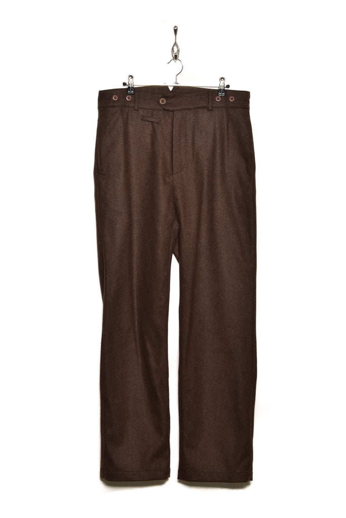 Frank Leder Wool Loden Trousers M007/03 chocolate 84