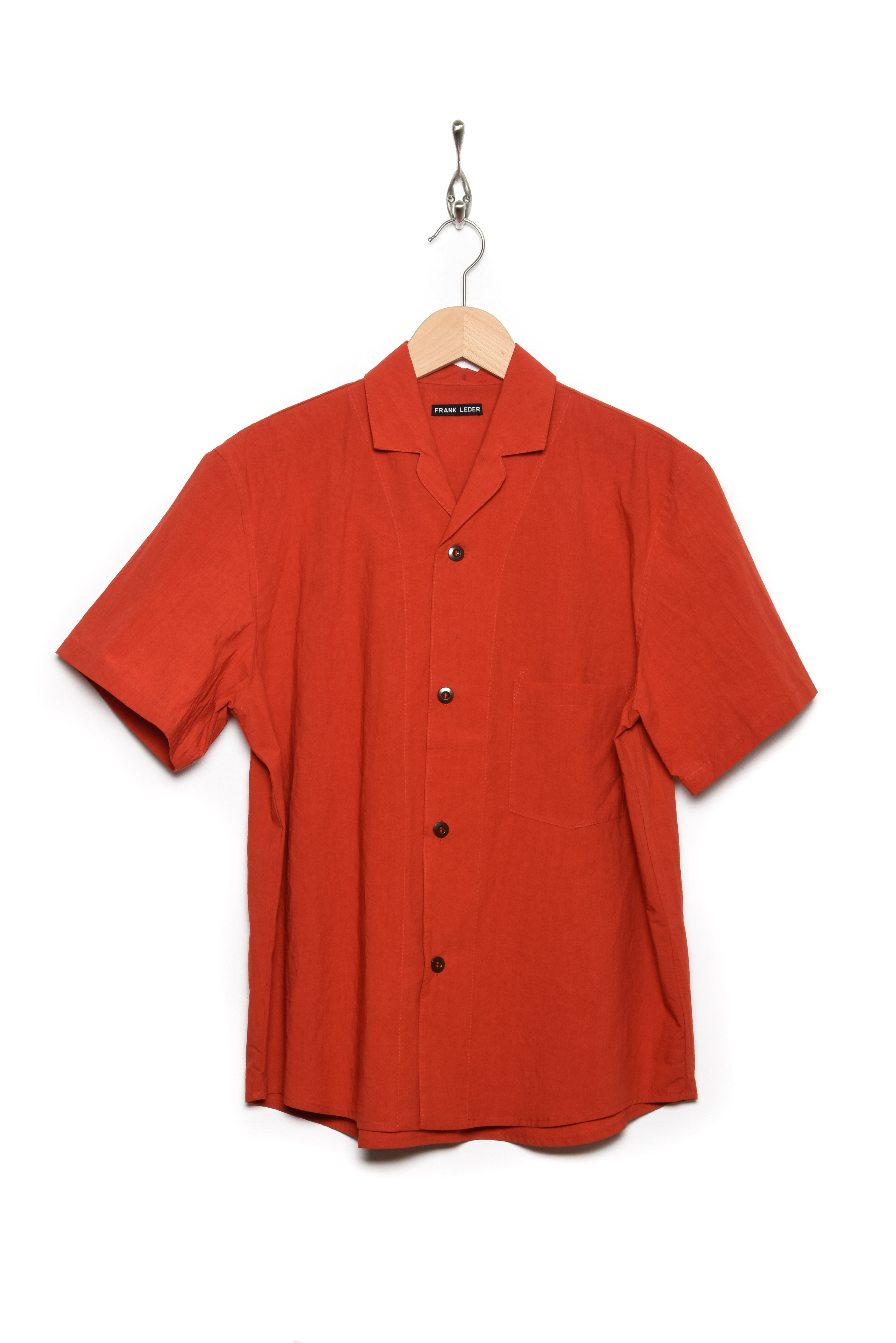 Frank Leder Shirt shortsleeves red