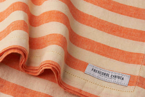 Frescobol Carioca Linen Towel Stripe orange/off white