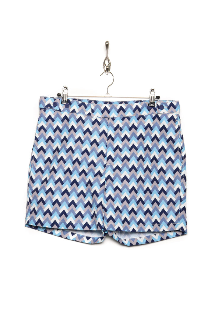 Frescobol Carioca Trunks Tailored Short Parquet navy/sky blue