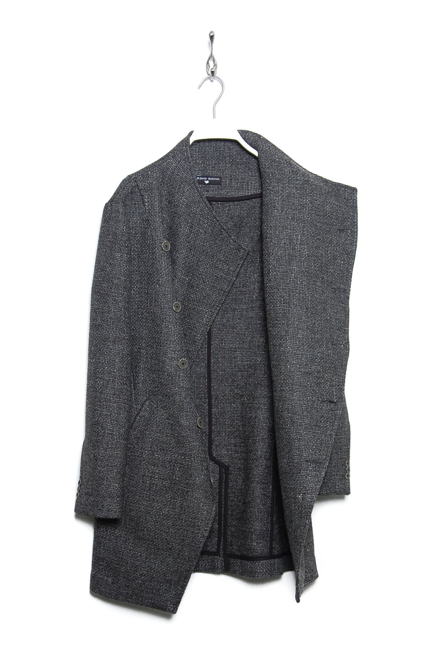 Reykjavik District Hamlet Coat grey tweed