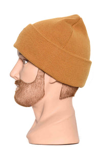 Leaf organic wool beanie buckhorn brown