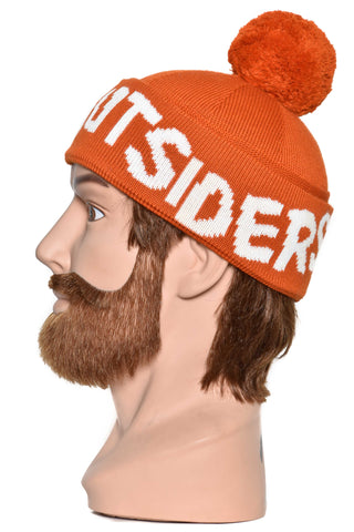 Band of Outsiders Band Pompom Beanie KW12 CK110 5302 spicy orange