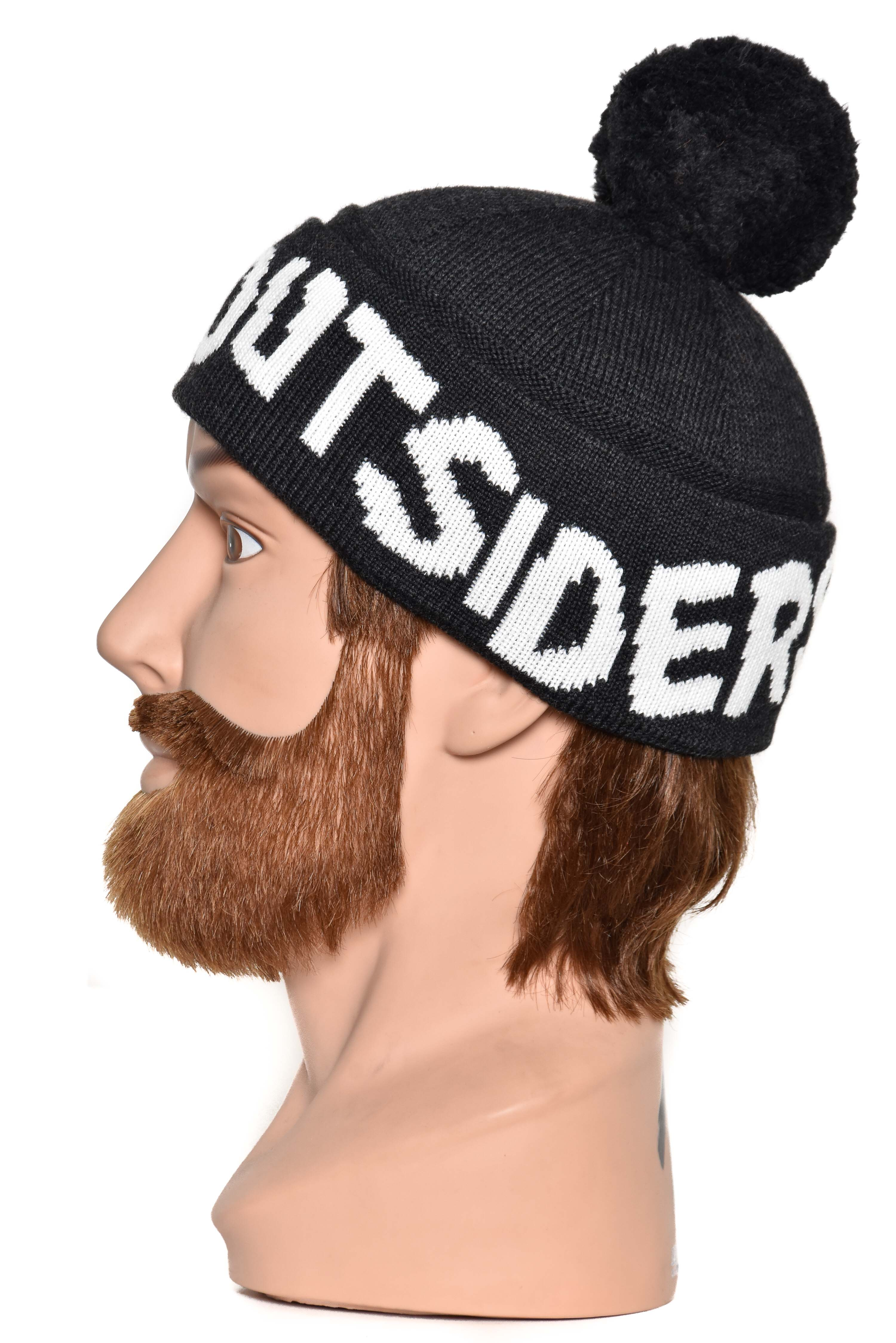Band of outsiders Band Pompom Beanie KW12 CK110 8001 charcoal