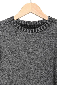 Crewneck black/grey melange 1657751 999-004