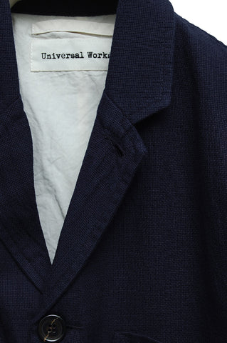Universal Works Suit Jacket Panama Cotton navy 16525