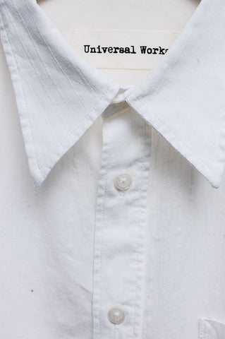 Universal Works Point Collar Shirt Lincoln Cotton white 16661