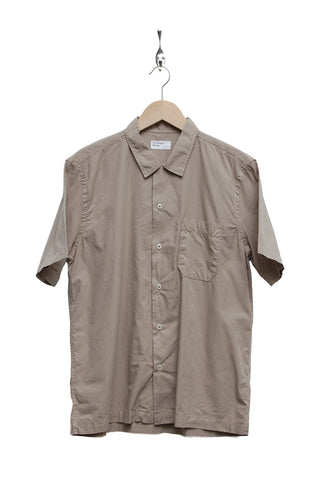 Universal Works Road Shirt poplin warm stone 18665